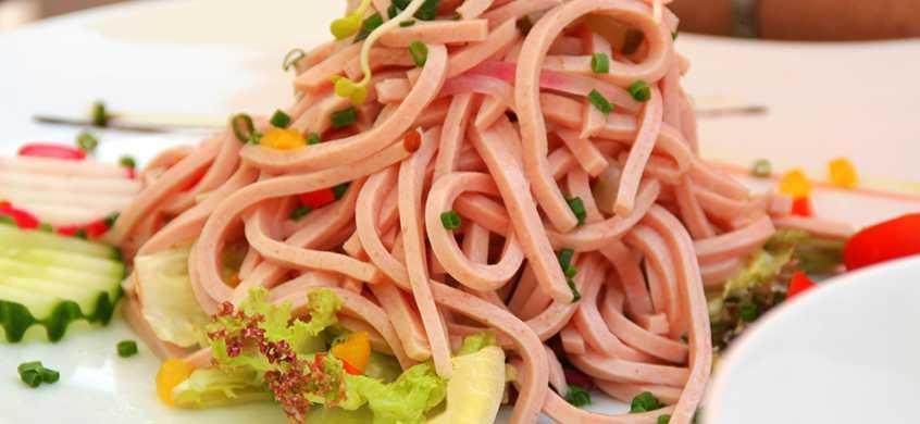 Salat Fleisch